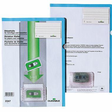 DURABLE Diktathülle 234706 DIN A4 matt PVC blau