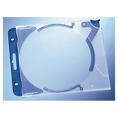 DURABLE CD/DVD Box QUICKFLIP COMPLETE 526906 bl/tr 5 St./Pack.