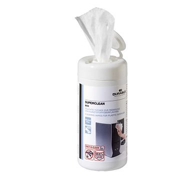 DURABLE Reinigungstuch SUPERCLEAN BOX 570802 100 St./Pack.