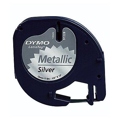 DYMO Schriftbandkassette LetraTag S0721750 12mmx4m schwarz auf silber