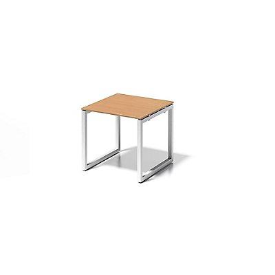 Bisley Schreibtisch Cito mit O-Gestell in Verkehrsweiß, Platte grauweiß - HxBxT 740 x 800 x 800 mm