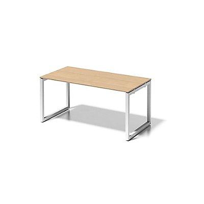 Bisley Schreibtisch Cito mit O-Gestell in Verkehrsweiß - HxBxT 740 x 1600 x 800 mm