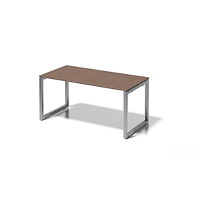Bisley Schreibtisch Cito mit O-Gestell in Silber - HxBxT 740 x 1600 x 800 mm