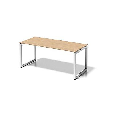 Bisley Schreibtisch Cito mit O-Gestell in Verkehrsweiß - HxBxT 740 x 1800 x 800 mm