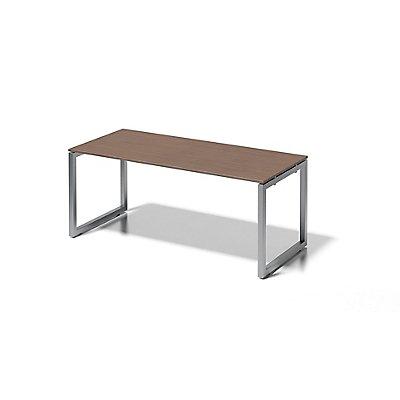 Bisley Schreibtisch Cito mit O-Gestell in Silber - HxBxT 740 x 1800 x 800 mm