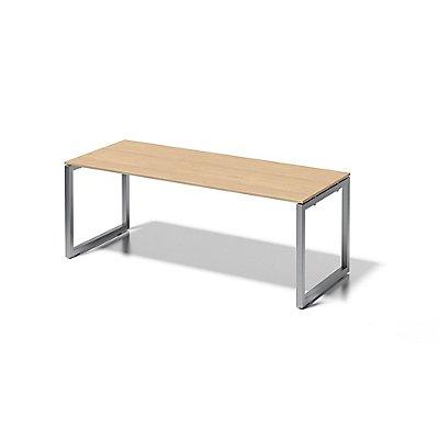 Bisley Schreibtisch Cito mit O-Gestell in Silber - HxBxT 740 x 2000 x 800 mm