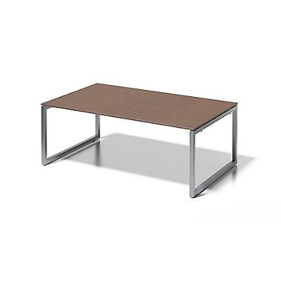 Bisley Schreibtisch Cito mit O-Gestell in Silber - HxBxT 740 x 2000 x 1200 mm