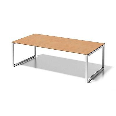 Bisley Schreibtisch Cito mit O-Gestell in Verkehrsweiß - HxBxT 740 x 2400 x 1200 mm