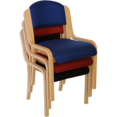 Stapelstuhl Devon ohne Armlehnen - Holzgestell