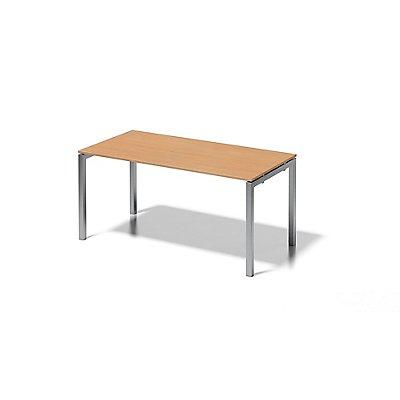 Bisley Schreibtisch Cito mit U-Gestell in Silber - HxBxT 740 x 1600 x 800 mm