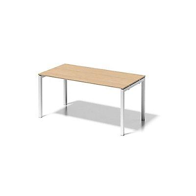 Bisley Schreibtisch Cito mit U-Gestell in Verkehrsweiß - HxBxT 740 x 1600 x 800 mm