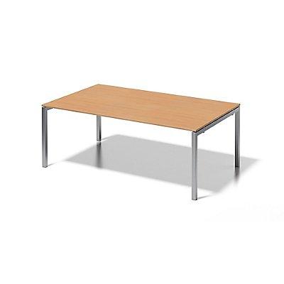 Bisley Schreibtisch Cito mit U-Gestell in Silber - HxBxT 740 x 2000 x 1200 mm