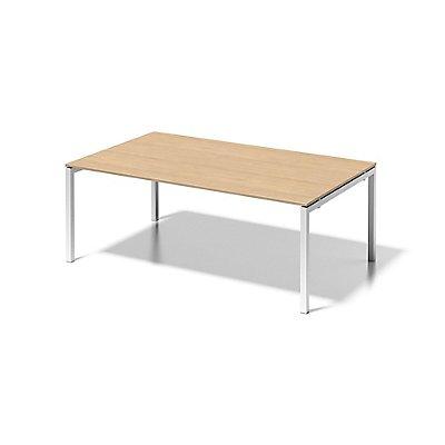 Bisley Schreibtisch Cito mit U-Gestell in Verkehrsweiß - HxBxT 740 x 2000 x 1200 mm