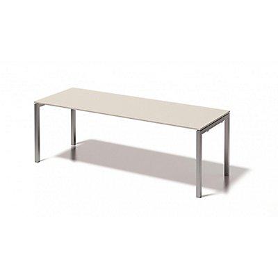 Bisley Schreibtisch Cito mit U-Gestell in Silber - HxBxT 740 x 2200 x 800 mm