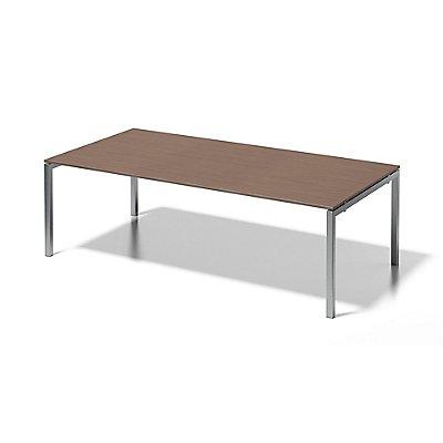 Bisley Schreibtisch Cito mit U-Gestell in Silber - HxBxT 740 x 2400 x 1200 mm