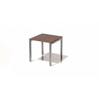 Bisley Schreibtisch Cito mit höhenverstellbarem U-Gestell in Silber - HxBxT 650-850 x 800 x 800 mm