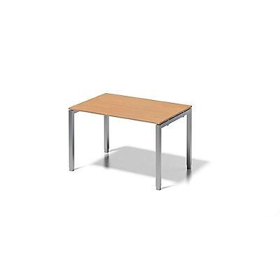 Bisley Schreibtisch Cito mit höhenverstellbarem U-Gestell in Silber - HxBxT 650-850 x 1200 x 800 mm