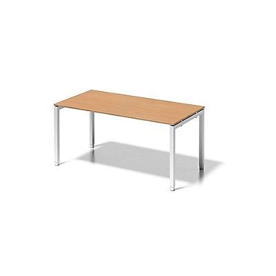 Bisley Schreibtisch Cito mit höhenverstellbarem U-Gestell in Verkehrsweiß - HxBxT 650-850 x 1600 x 800 mm