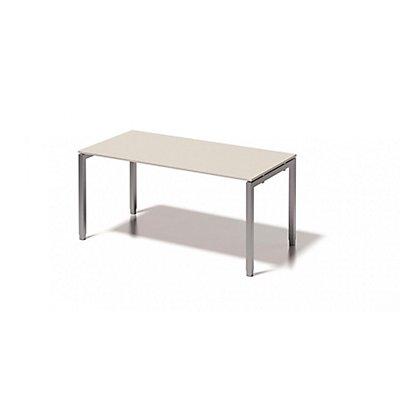 Bisley Schreibtisch Cito mit höhenverstellbarem U-Gestell in Silber - HxBxT 650-850 x 1600 x 800 mm