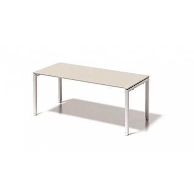 Bisley Schreibtisch Cito mit höhenverstellbarem U-Gestell in Verkehrsweiß - HxBxT 650-850 x 1800 x 800 mm