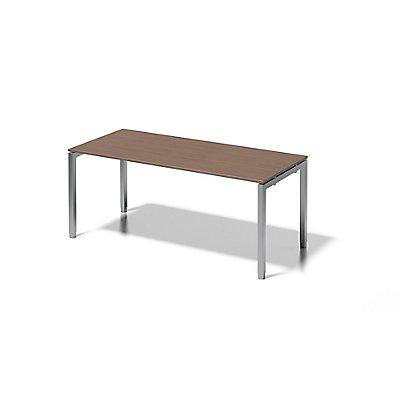 Bisley Schreibtisch Cito mit höhenverstellbarem U-Gestell in Silber, Platte grauweiß - HxBxT 650-850 x 1800 x 800 mm