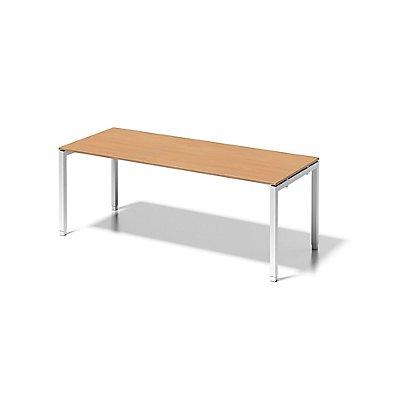 Bisley Schreibtisch Cito mit höhenverstellbarem U-Gestell in Verkehrsweiß - HxBxT 650-850 x 2000 x 800 mm
