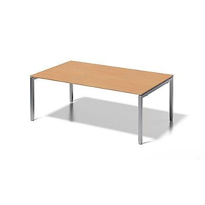 Bisley Schreibtisch Cito mit höhenverstellbarem U-Gestell in Silber - HxBxT 650-850 x 2000 x 1200 mm