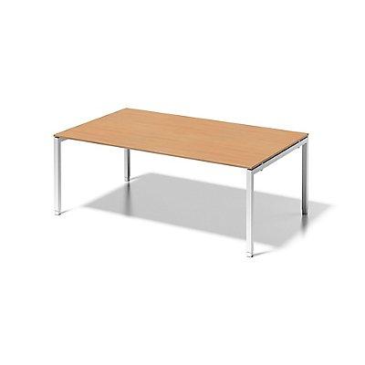 Bisley Schreibtisch Cito mit höhenverstellbarem U-Gestell in Verkehrsweiß - HxBxT 650-850 x 2000 x 1200 mm