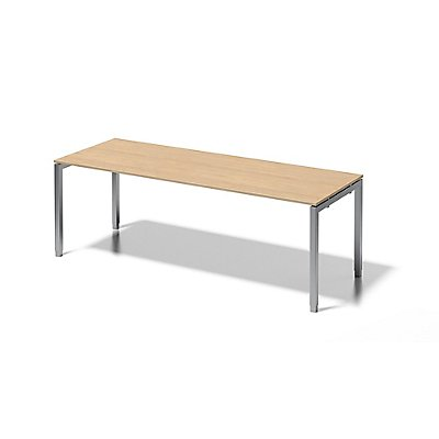 Bisley Schreibtisch Cito mit höhenverstellbarem U-Gestell in Silber - HxBxT 650-850 x 2200 x 800 mm