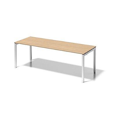 Bisley Schreibtisch Cito mit höhenverstellbarem U-Gestell in Verkehrsweiß - HxBxT 650-850 x 2200 x 800 mm