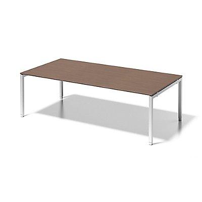 Bisley Schreibtisch Cito mit höhenverstellbarem U-Gestell in Verkehrsweiß - HxBxT 650-850 x 2400 x 1200 mm