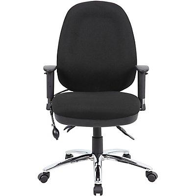 Operator-Bürodrehstuhl Deluxe - mit gepolstertem Sitz, schwarz