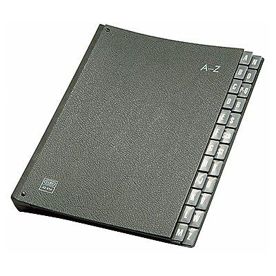 ELBA Pultordner 400001988 DIN A4 A-Z Hartpappe schwarz