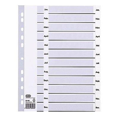 ELBA Register divide 400013900 Jan.-Dez. DIN A4 12Blatt PP weiß