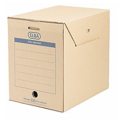 ELBA Archivbox Maxi tric system 83527BR für DIN A4 naturbraun