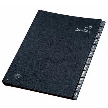 ELBA Pultordner 400001021 DIN A4 1-12 Hartpappe schwarz