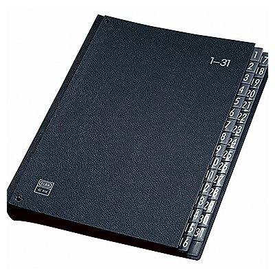 ELBA Pultordner 400001962 DIN A4 1-31 Hartpappe schwarz