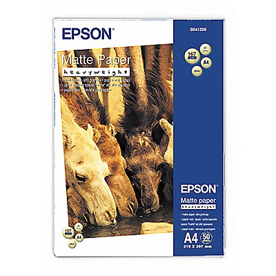 Epson Inkjetpapier Heavy Weight C13S041256 DIN A4 ws 50 Bl./Pack.
