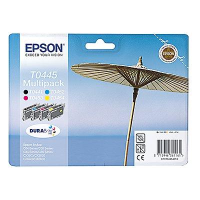 Epson Tintenpatrone C13T04454010 sw/c/m/y 4 St./Pack.