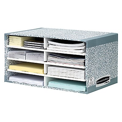 Fellowes Sortierstation Bankers Box System 08750EU 49x26x31cm grau/weiß