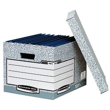 Fellowes Archivbox Bankers Box System 00810-FFEU grau/weiß