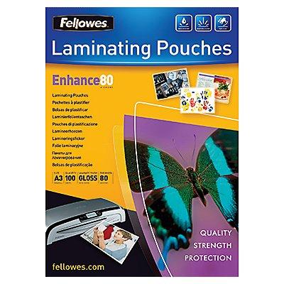 Fellowes Laminierfolie Enhance 80 5306207 DIN A3 tr 100 St./Pack .