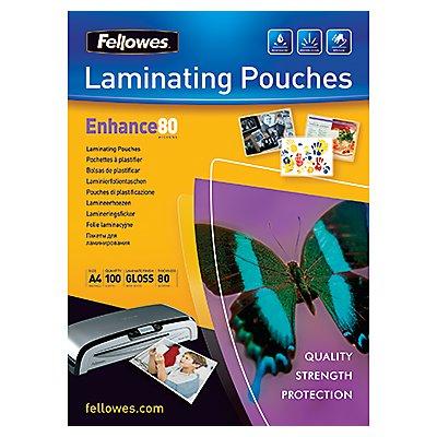 Fellowes Laminierfolie Enhance 80 5306114 DIN A4 tr 100 St./Pack.