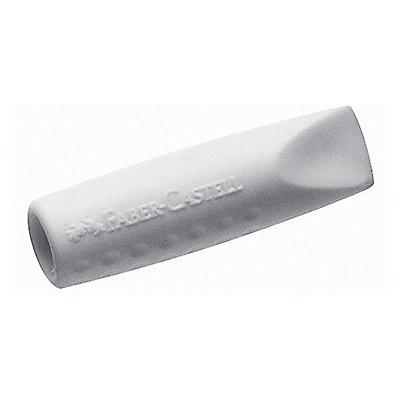 Faber-Castell Radierer Eraser CAP GRIP 2001 grau/weiß 2 St./Pack.