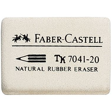 Faber-Castell Radierer 184120 Kautschuk weiß