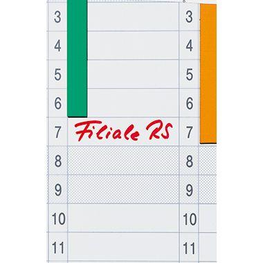 Franken Datumstreifen DS41203A 19,1x69,5cm 1-31 weiß 12 St./Pack.