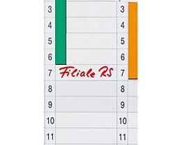 Franken Datumsstreifen DS703A  14x42cm 1-31 sk tr 12 St./Pack.