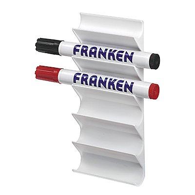 Franken Tafelschreiberhalter Z1986 magnethaftend Kunststoff weiß