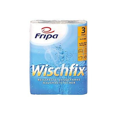 fripa Küchenrolle Wischfix 3012011 3-lagig weiß 2 St./Pack.