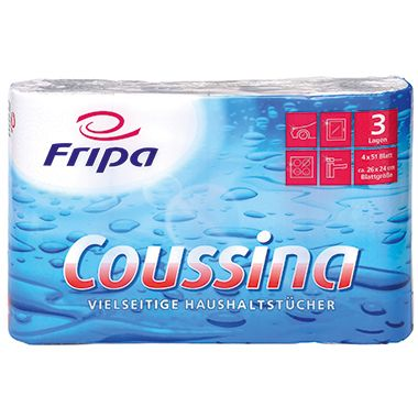 fripa Küchenrolle Coussina 3204002 3-lagig weiß 4 St./Pack.